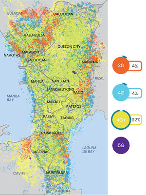 Everise manila 4G network heatmap