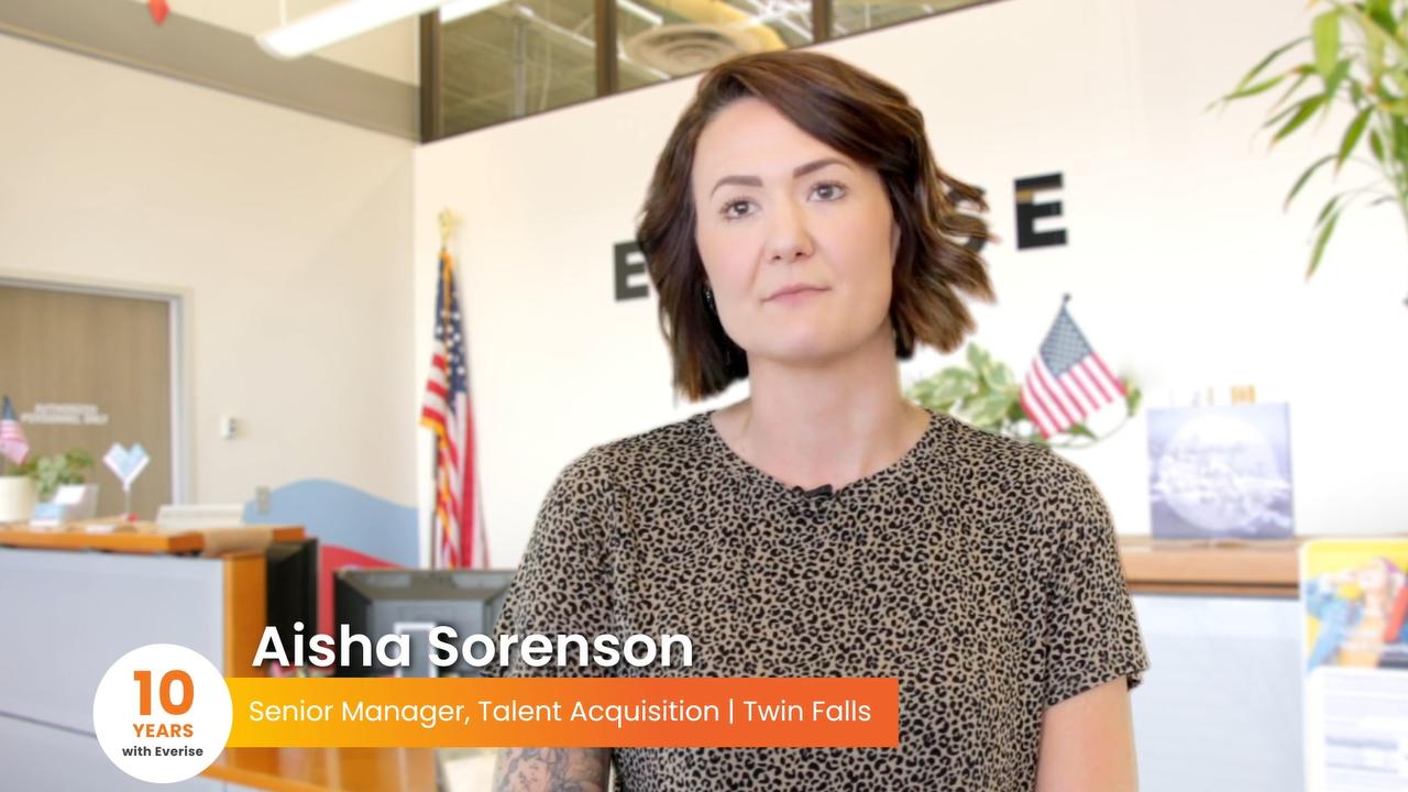 People of Everise: Tenured Champions Edition | Aisha Sorenson, Twin Falls